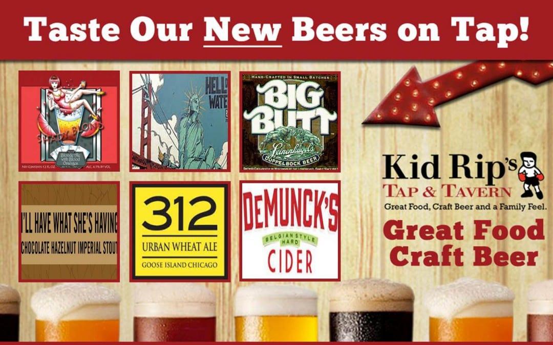 Taste Our New Beers on Tap!