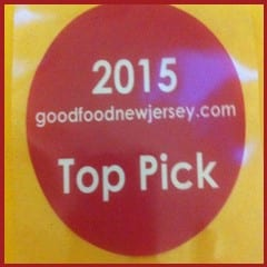 Voted Top Pick Of New Jersey by Goodfoodnewjersey.com